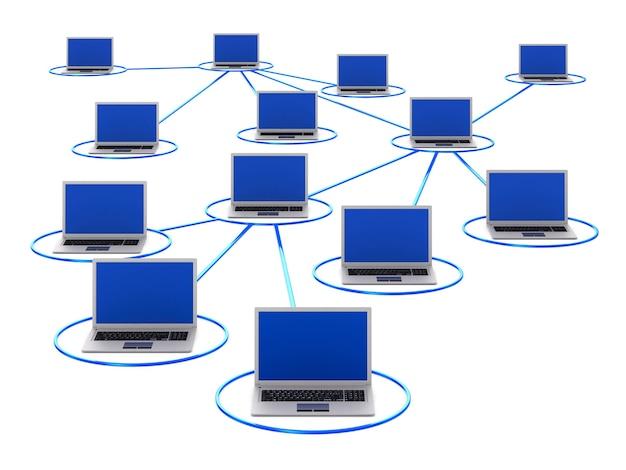 Netwerk. geïsoleerde 3d-weergave