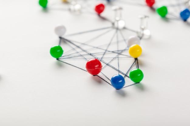 Netwerk met pinnen