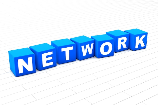 Netwerk woord illustratie