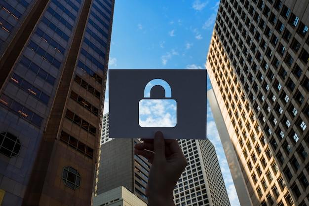 Netwerkbeveiligingssysteem geperforeerd papieren hangslot