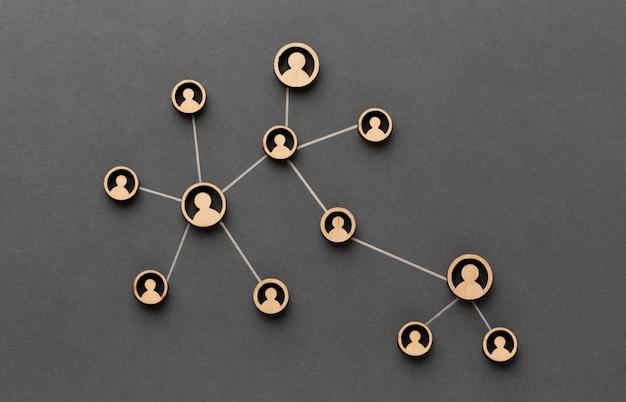 Netwerkconcept stilleven arrangement