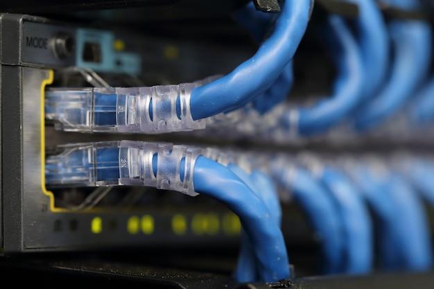 Netwerkkabel in de serverruimte