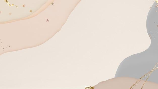 Neutrale abstracte achtergrond met gouden sterren glitter
