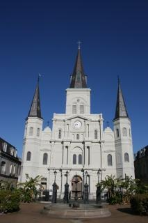 New orleans - saint louis kathedraal, kerk