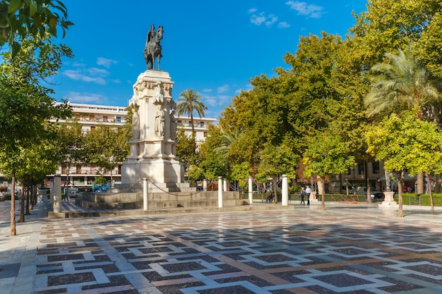 New square of plaza nueva in sevilla, spanje