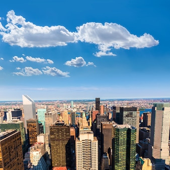 New york manhattan luchtfoto oost en brooklyn