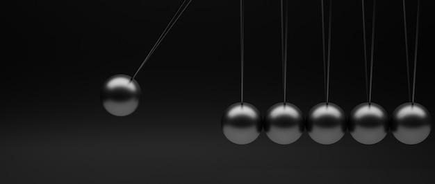 Newton's slinger minimalistisch beeld