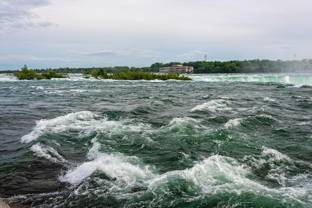 Niagara river stroomversnellingen en horseshoe falls-landschap