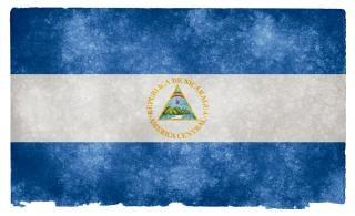 Nicaragua grunge vlag pagina