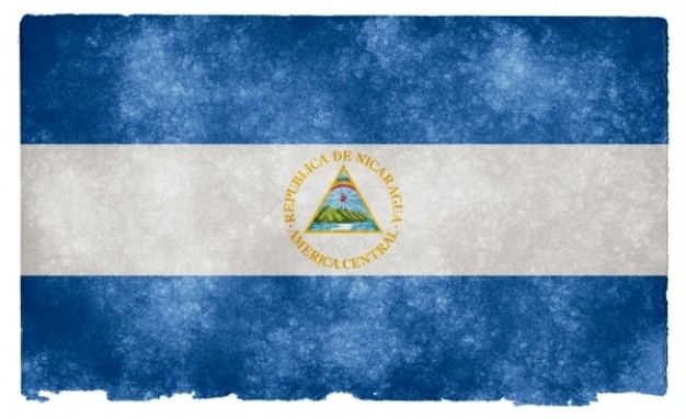 Nicaragua grunge vlag