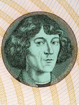 Nicolaus copernicus-illustratie van pools geld
