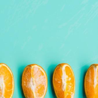 Niet-bevroren stukjes sinaasappel