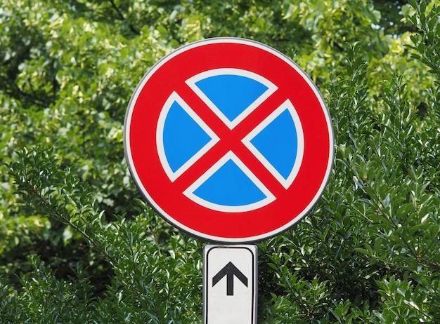 Niet parkeren teken