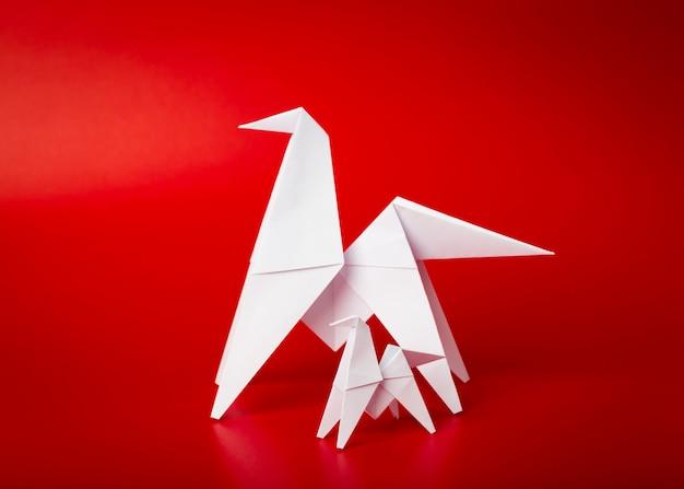 Nieuw jaar 2014 origami papier paard