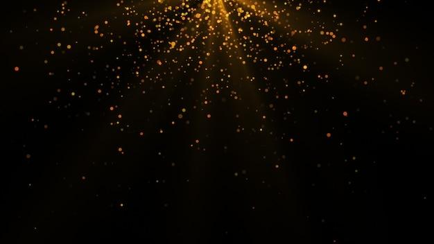 Nieuw jaar 2020. bokeh achtergrond. lichten abstract. merry christmas achtergrond. gouden glitterlicht. defocused deeltjes. geïsoleerd op zwart. overlay. gouden kleur