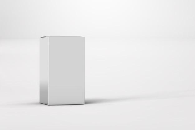Nieuw ontwerp van glanzend wit doospakket geïsoleerd