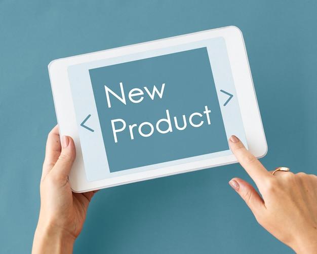Nieuw product bedrijfslanceringswoord