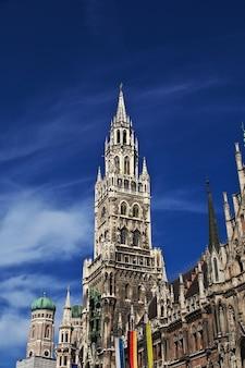 Nieuw stadhuis, neus rathaus in münchen, duitsland