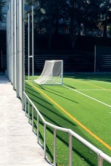 Nieuw voetbalveld met kunstgrasveld