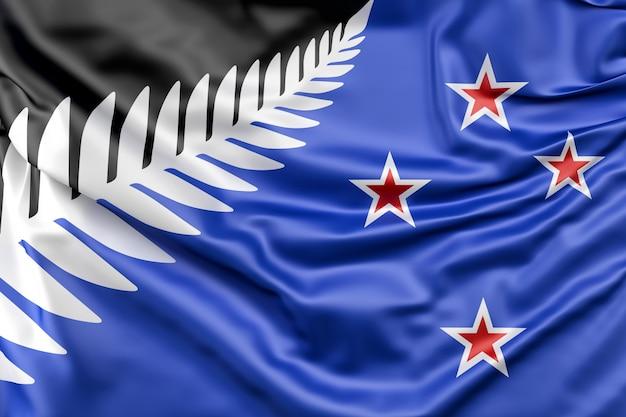 Nieuw voorgestelde silver fern vlag van nieuw-zeeland