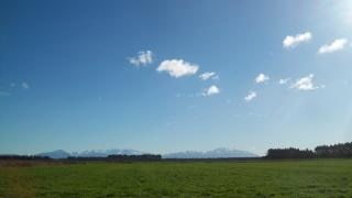 Nieuw-zeelandse landschap in de winter