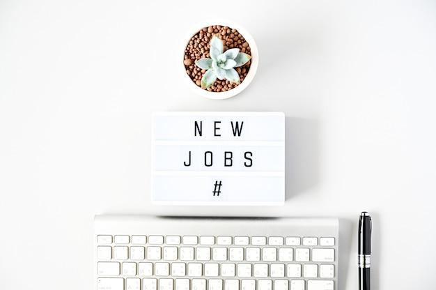 Nieuwe banen van business concept plat leggen, minimale stijl