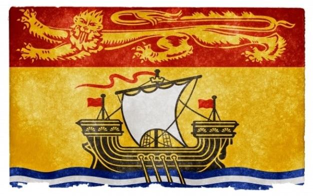 Nieuwe brunswick grunge vlag