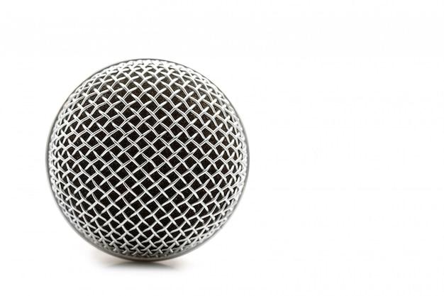 Nieuwe draadloze microfoon op wit
