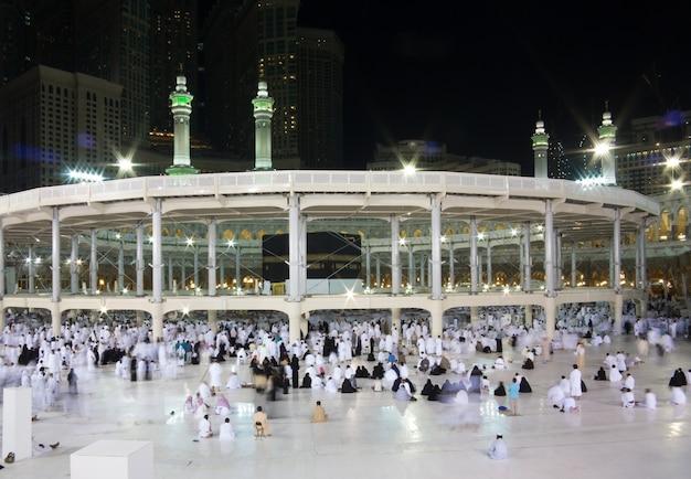 Nieuwe foto's van kaaba in mekka na restauratie