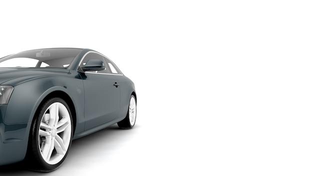Nieuwe generieke luxe sportwagen illustratie geïsoleerd op een wit oppervlak met gestileerde geluidseffecten