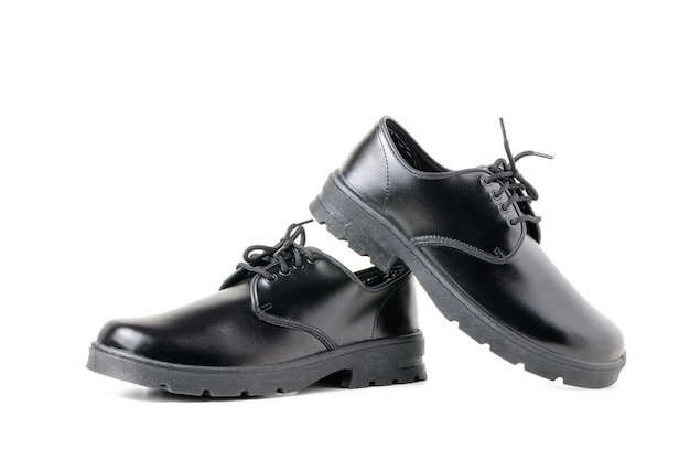 Nieuwe lederen student schoenen geïsoleerd
