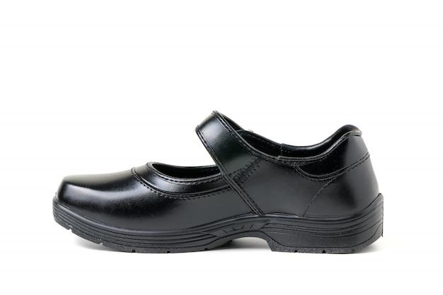 Nieuwe lederen student student schoenen geïsoleerd