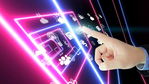 Nieuwe mediatechnologie op het scherm