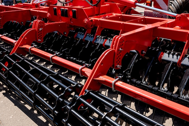 Nieuwe moderne landbouwmachines en uitrustingsdetails