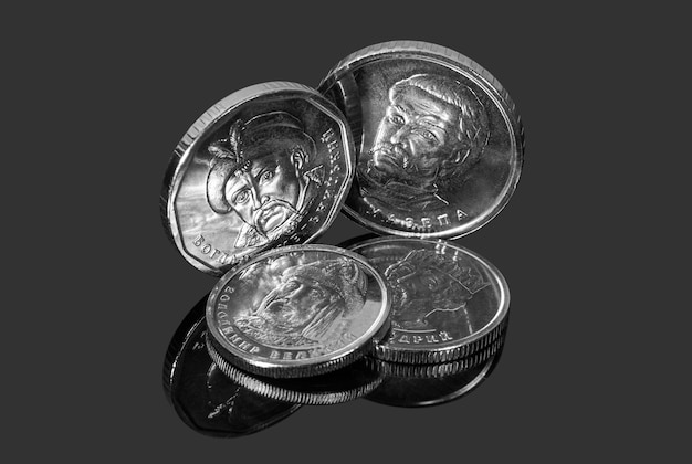 Nieuwe munten van oekraïense hryvnia's