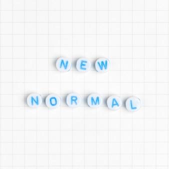 Nieuwe normale tekstkralen typografie