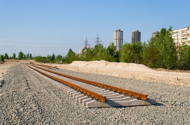 Nieuwe nummers. tramlijn constructie