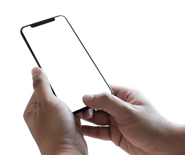 Nieuwe telefoon technologie-smartphone met leeg scherm en moderne frame minder ontwerp