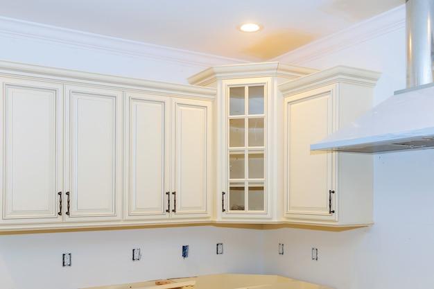 Nieuwe thuis keuken interieur kasten home verbetering keuken verbouwen