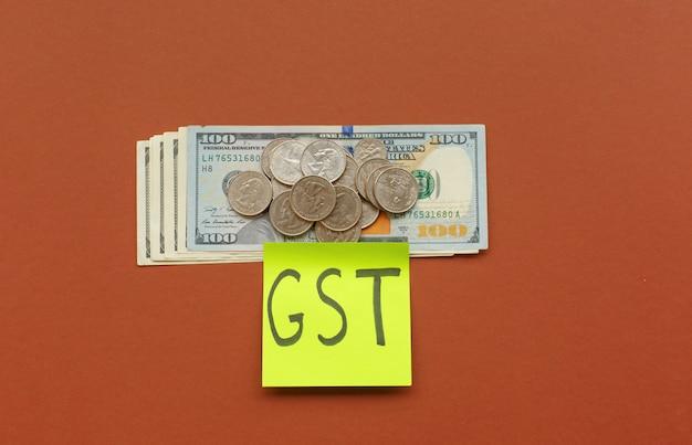 Nieuwe valuta en goederen- en servicebelasting, gst-belasting