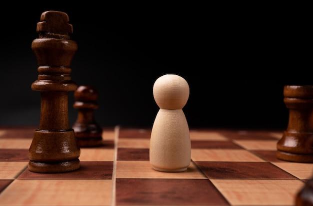 Nieuwe zakelijke leider confrontatie met koningschaken is een uitdaging voor nieuwe zakelijke spelers