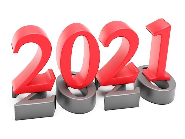 Nieuwjaar 2021 vakantieconcept.