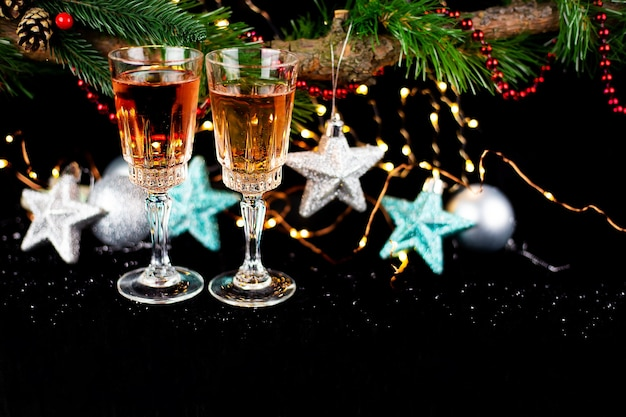 Nieuwjaar en kerstdecor