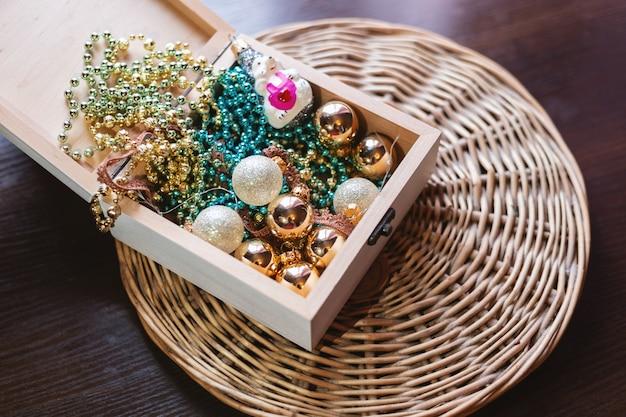 Nieuwjaar en kerstmis concept foto van het stilleven
