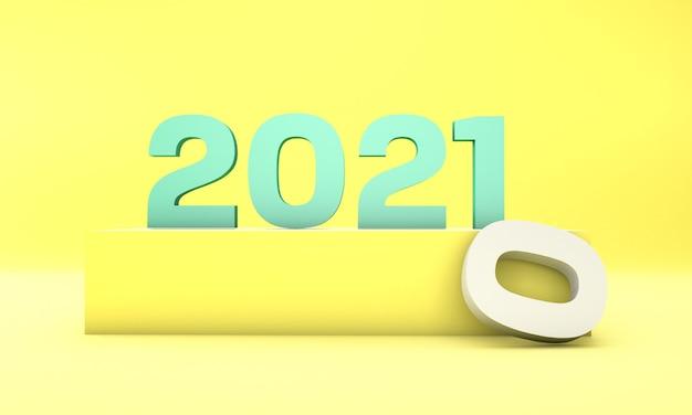 Nieuwjaar ontwerp concept digitale afbeelding