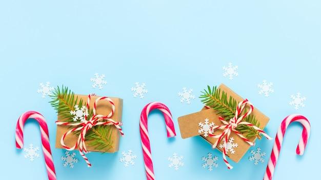 Nieuwjaars- en kerstgeschenkdozen met zuurstokken