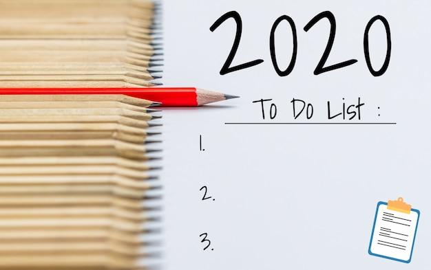 Nieuwjaars resolutie doellijst 2020 doelstelling