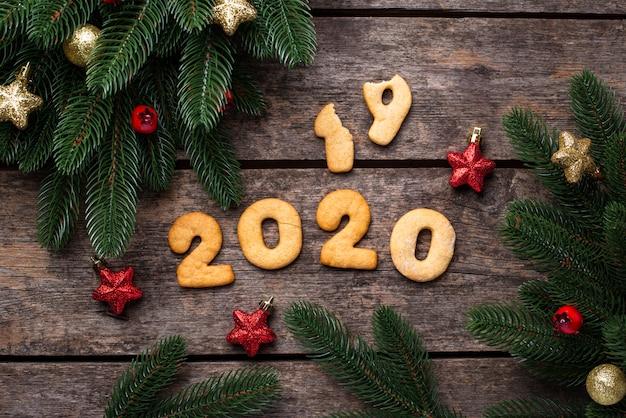 Nieuwjaarskoekjes in vorm 2020