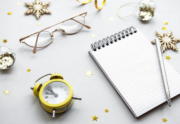 Nieuwjaarsplanning concept