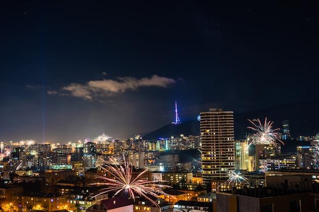 Nieuwjaarsvergadering in tbilisi, georgië